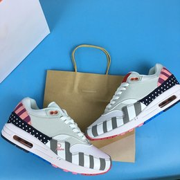 Fashionable Flat Shoes Laces Canada - Piet Parra x 1 White Multi AT3057-100 Men Running Shoes fashionable style Off Rainbow Mens Pure Platinum Casual shoes