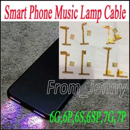 $enCountryForm.capitalKeyWord NZ - For iPhone LED Glowing Flex Music Lamp Line Cable Phone Speaker Shinning DIY Glowing Flex for iPhone 7Plus 6 6S Plus DHL Free