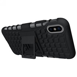Tyre case online shopping - Newest TPU PC for Iphone plus phone case with kickstand Tyre grain anti crash phone case for Iphone x protective mobile case cover