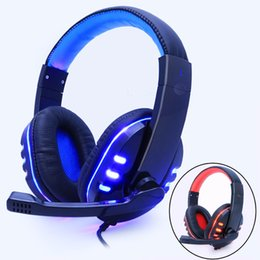 Yellow Gaming Laptop Australia - Gaming Headphone Headphones Headset Deep Bass Stereo With Mic Adjustable 3.5mm Wired led For computer Laptop Gamer Earphone