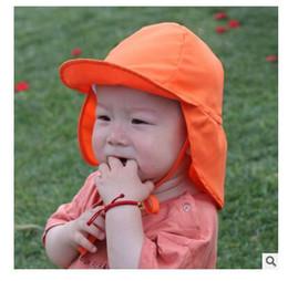 Summer Boys Girls Sun Hat Anti-UV Swim Hat Outdoor Soft Beach Hat Neck Ear  Cover Flap Cap UPF UV Protection DHL Free Shipping 60c535de4b0e