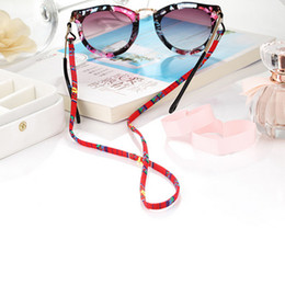 Wholesale Eyeglass sunglasses cotton neck string cord retainer strap eyewear lanyard holder with good silicone loop