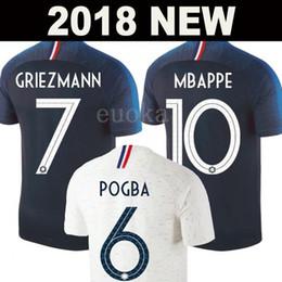 79f6c2cbb5b New 2018 France World Cup jerseys GRIEZMANN MBAPPE POGBA DEMBELE Football  shirts 18 19 France National Team home away GIROUD Maillot de foot