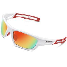 e92a405c7da TOREGE Polarized Sports Sunglasses for Men Women Cycling Running Driving  Fishing Golf Baseball Glasses TR90 Unbreakable Frame