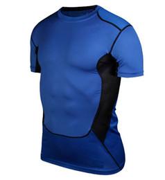 Mens Pro T-shirt Suar Roupas Pano de Treinamento de Basquete Correndo Sportswear capaz de misturar qualquer tamanho, cor em Promoção