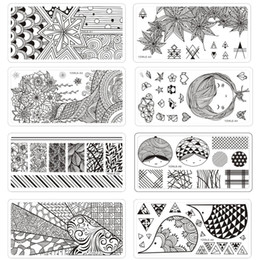 $enCountryForm.capitalKeyWord Australia - YZWLE 6*12cm Square Nail Stamping Plates Origami Series Lace Flower Leaves Design Nail Art Stamp Template Image Plate Stencil