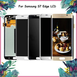 Lcd samsung edge online shopping - For Samsung Galaxy S7 Edge LCD Display Replacement SM G935F G935A G935V T Touch Screen Digitizer For Samsung S7 LCD