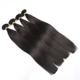 "$enCountryForm.capitalKeyWord Australia - 14"" European Remy Nail Tip Hair Extensions 0.6g s U Tip Hair Extension With Keratin Straight Pre Bonded Hair 50 pieces"