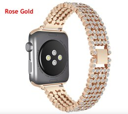 iwatch straps Australia - 44mm 40mm Watch Strap Metal Wristband for apple watch band iwatch series 4 Luxury Replace Bling Stainless Steel Watch Band