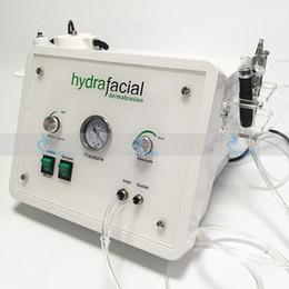 Ingrosso 3in1 portatile Diamond Microdermabrasion macchina di bellezza ossigeno cura della pelle Acqua Aqua Dermoabrasione Peeling attrezzature SPA idrafacial