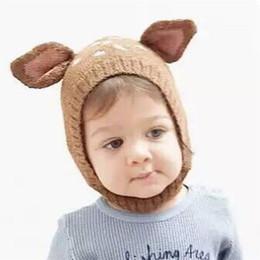 $enCountryForm.capitalKeyWord NZ - 0-5 Years Baby Girls Hats Handmade Kids Winter Hats Wrap Fawn Scarf Caps Cute Autumn Children Knitted Hats free shipping 2018
