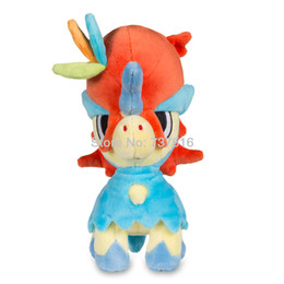 Chinese  New Japan Anime Soft Round-headed Plus Three-colored decoration Keldeo-Resolution Dream Standard Plush Stuffed Animals Toys Gift manufacturers