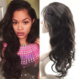 bleached peruvian wavy hair 2019 - Malaysian Body Wave 360 Lace Frontal Closure Bleached Knots Virgin Wavy Pre Plucked 360 Frontal With Baby Hair discount