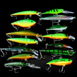 Mix Artificial Bait Australia - New 14pcs Set Fishing Lures Mixed 14 Different Style Hard Bait Carp Fishing Artificial Plastic Wobbler Fishing Tackle