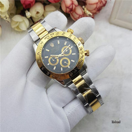 men dress automatic watches 2018 - Top Luxury Brand All Subdials Work Mens Watches Montre Homme Swiss Mechanical Watches Men Chronograph Male Clock Dress B