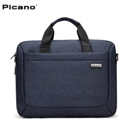 gray handbags NZ - PICANO New style Brand briefcase handbag for men Waterproof Oxford shoulder Bag Business Casual laptop bag Large Capacity packet