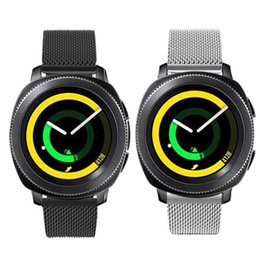 $enCountryForm.capitalKeyWord NZ - LEONIDAS Milanese Loop For Samsung Gear Sport Band Magnetic Closure Clasp Replacement Strap For Gear Sports S4 Smart Watch