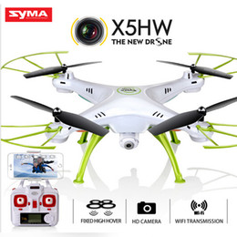 Helicopters Toys Camera Australia - Original Syma X5HW (X5SW Upgrade) racing selfie Dron FPV Quadrocopter drone with Camera HD 2.4G 4CH RC Helicopter wifi USB Toy