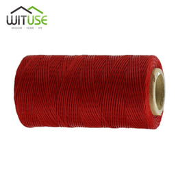 flat braided leather 2019 - DIY Hand Work 260m 1mm Flat Sewing Coarse Braid Waxed Thread Cord For Leather Shoes Luggage Repair cheap flat braided le