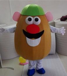 Toptan satış EVA Malzeme Erkek tarzı patates Maskot Kostümleri Karikatür Giyim Doğum Günü partisi Masquerade WS886