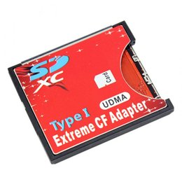 2tb Wholesale Australia - SDXC SDHC WIFI SD to Type I Compact Flash Card Adapter CF Adapter Maximum Support 2TB XXM8