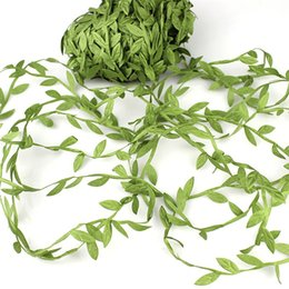 China 77M Artificial Leaf Vine Simulation Foliage Vines Green Leaves Rattan Fake Wreath Home Wall Garden Party Wedding Decoration supplier fake vine foliage suppliers