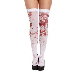 $enCountryForm.capitalKeyWord UK - desire #50 2018 new creative Women Sexy Horror White Halloween Party Bloody Nurse Fancy Long Socks