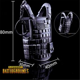 $enCountryForm.capitalKeyWord Canada - PLAYERUNKNOWNS BATTLEGROUNDS Keychain PUBG Level 3 Bulletproof vests 80mm Key Ring Pot Metal model ornaments Toy ornaments Model prop