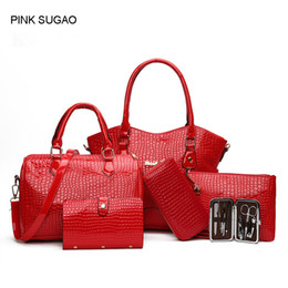 Discount chain style designer clutch - Pink sugao designer handbags new style crossbody bag tote shoulder clutch purse messenger pu leather bag set with wallet