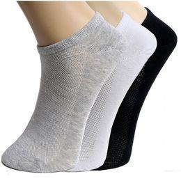 5Pair Women's Socks For Woman Unisex Mesh Low Cut Socks Female Summer Ankle Short Shallow Mouth White Gray Black