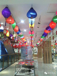 Party Decorations Chinese Lanterns Australia - 12inch 30cm Chinese Traditional Diamond Jacquard Satin Silk Lanterns Indoor Outdoor Market Mall Store Party Decorations Brand New