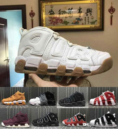 6ad0c94d507 2018 New 96 QS Olympic Varsity Maroon more Mens Basketball Shoes 3M Scottie  Pippen air Uptempo Chicago Trainers Sports Sneakers Size 40-47
