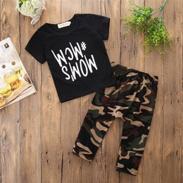 $enCountryForm.capitalKeyWord Canada - Black Short Sleeve Letters T-shirt and Camouflage Trousers Suit Hot Sales Baby Boy Kids Clothes Free Shipment