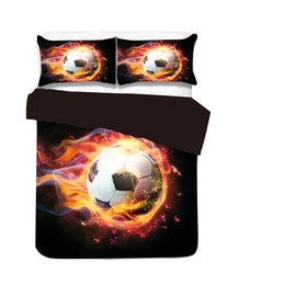 $enCountryForm.capitalKeyWord Canada - New 3D World Cup Football Design Bedding Set Of 2PC 3PC Duvet Cover Set Quilt Cover & Pillowcase Twin Full Queen King Size