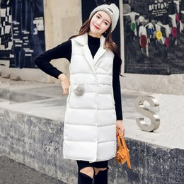 b1c3e0f47f5 Orwindny 2018 Autumn Thicken Warm Vest For Girls Loose Casual Winter Vest  Women Long Plus Size Down Cotton Sleeveless Coat