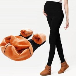 Leggings Pregnant Australia - Maternity legging Adjustable Elastic maternity leggings pregnant clothes pants for women winter thickening pants