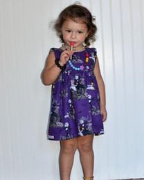 striped organza dress 2019 - 2018 new Halloween children's skirt baby girls summer princess dresses party purple sleeveless skull alpaca print d