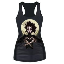 Discount girls skull t shirt - New 2016 Skull Skeleton Galaxy Girl Cartoon 3D Printed Tank Top Women Sleeveless Tops T- Shirt Summer Sexy Workout Vest