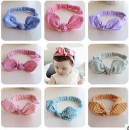 Headbands Bow Australia - Baby Girl Headbands Korea Summer New Hair Bows Headwear Chiffon Stars Stripe Rabbit Ears Headband Hair Hoop