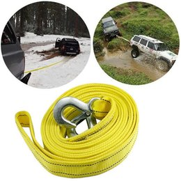 $enCountryForm.capitalKeyWord NZ - 4M Car Rope Tow Cable Heavy Duty Towing Pull Rope Strap Hooks Van Road Recovery car for Heavy Duty Car Emergency GGA198