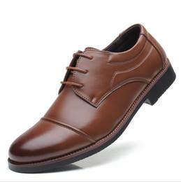 $enCountryForm.capitalKeyWord Australia - Designer Brown Men Shoes Fashion PU Leather Shoes Black Stylish Trend Dress Shoe Casual Lace Up Office Shoes Man Plus Size 38-48