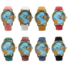 Ups world map online ups world map for sale world map watch globe graduation gift for lover vintage men denim fabric band watch women simple watches best gift reloj hombre gumiabroncs Image collections