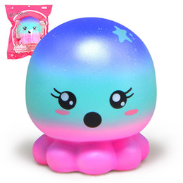 Computer kids online shopping - 2018 Squishies rare kawaii squishy jumbo Octopus slow rising squishy with package kids toy gifts scented bread Free Ship