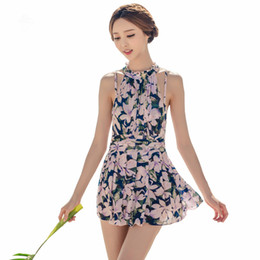 44e94db1835f Top Quality Bathing Suit for Womens Female 2017 Floral Print High Neck One Piece  Swimsuit Beachwear Girls Sweet Skirt Swimwear