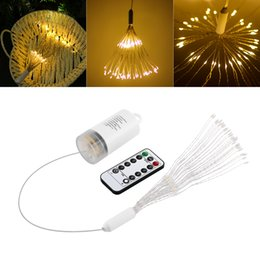 $enCountryForm.capitalKeyWord Australia - DIY LED Fairy String Light Battery Operated Led Bouquet Shape Firework Fairy Holiday Light with Remote Control Decoration for Garden Room P