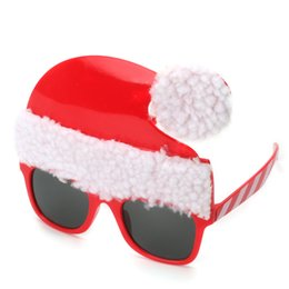 072195b91c Christmas glasses Mask Xmas party decoration props ornament Santa Claus  Party glasses Photo props PROM glasses Halloween Supplies AAA1160