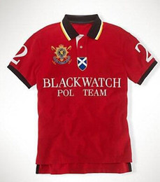 Men S Big Watch Australia - Festival Men Polo Shirt Big Horse Black Watch Classic Summer Spring Polos Homme Casual Mens Polo Shirts Brands Cotton Red S-XXL