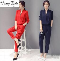 30242aa222 Long eLegant rompers online shopping - GOOD quality Women Jumpsuit long  sleeve autumn V neck Long