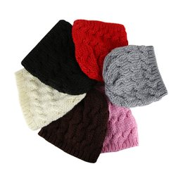 Wholesale Kids Knitted Beanies UK - Fashion Kids Knitted Baggy Hat Crochet Braided Skull Cap Children Ski Beanies Autumn Winter Warm Hat For Girls