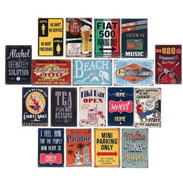 Wholesale Retro Metal Motorcycle License Plate Electrombile Vintage Wall Art Painting Plaque Poster Car Garage Home Decor Metal Tin Signs